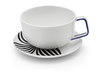 Salt & Pepper Madison cups and saucers blauw, set of 4