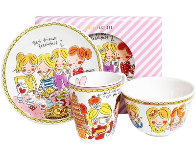 Blond Amsterdam Breakfast Set Small Talk Pink