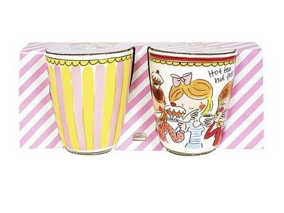 Blond Amsterdam Set 2 Mugs Small Talk Red Stripe