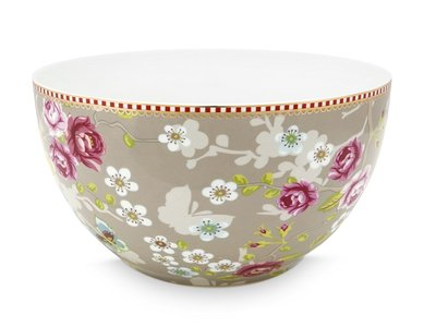 Pip Studio Bowl Early Bird Chinese Rose Khaki 18cm