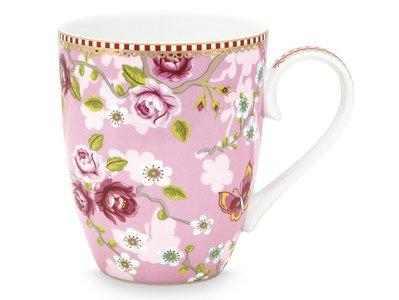 Pip Studio Mug Large Early Bird Chinese Rose Pink