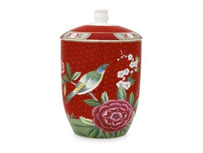 Pip Studio Storage Jar Blushing Birds Red