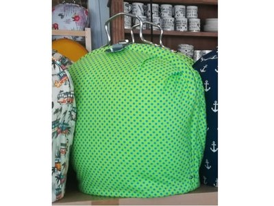Teacosy with clip: HotTeapots.com exclusive: Green with Dots